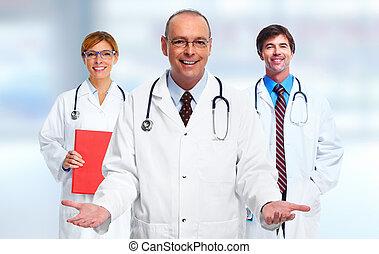 gruppe, i, medicinsk, doctors.