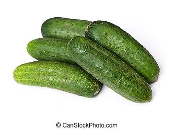 gruppe, i, naturlig, agurker
