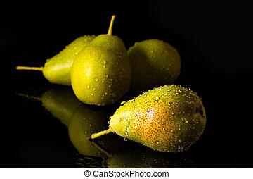 gruppe, i, pears, hos, falde vand, nedgange