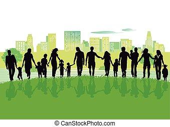 Gruppe im Stadtpark