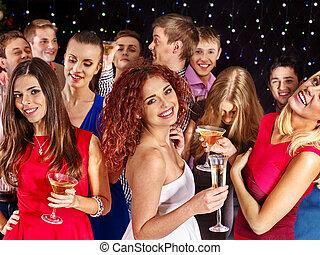 Gruppe, Leute,  party, tanzen