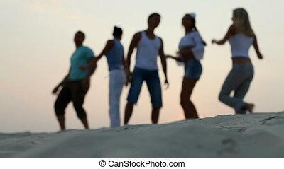 gruppe, tanzen