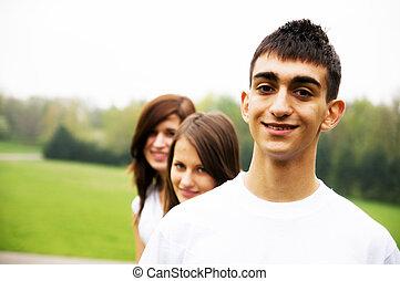 gruppe, teenager