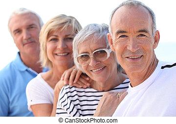 gruppe, von, ältere
