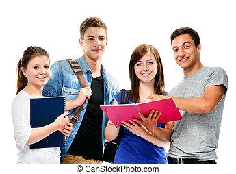 gruppe, von, der, studenten