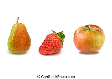 gruppe, von, früchte