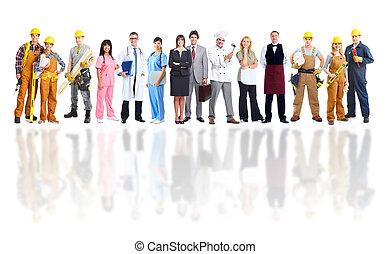 gruppe, von, industrie, workers.