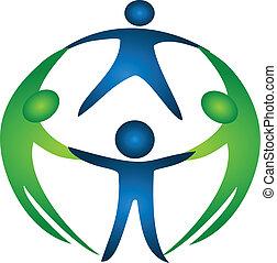 gruppe, von, mannschaft, logo