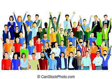 Crowd of people Vector Clipart Illustrations. 18,974 Crowd of people clip  art vector EPS drawings available to search from thousands of royalty free  illustrators.