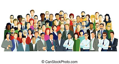 Gruppen Gesicht - Group picture with different persons, ...