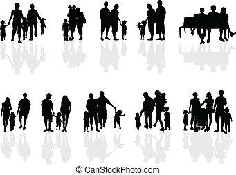 gruppi famiglia, vettore, lavoro