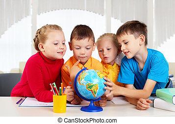 gruppo, alunni