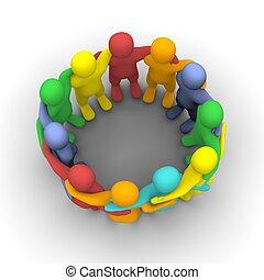 gruppo, amici, sociale