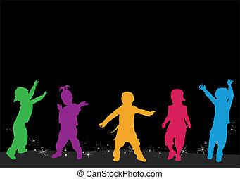 gruppo, bambini