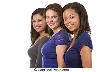 gruppo, casuale, donne