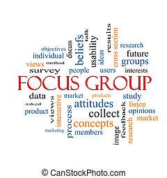gruppo, concetto, parola, fuoco, nuvola