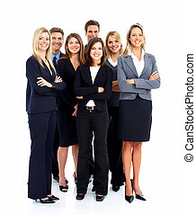 gruppo, di, affari, persone.