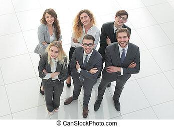 gruppo, di, affari, persone., sopra, sfondo bianco