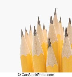 gruppo, di, affilato, pencils.
