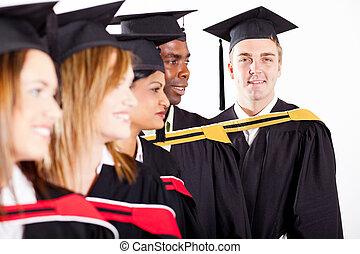 gruppo, di, laureati, a, graduazione
