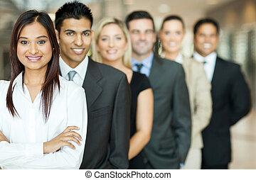 gruppo, di, squadra affari