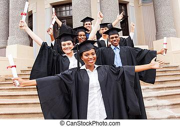 gruppo, di, università, studenti