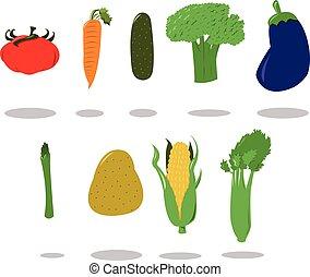 gruppo, di, verdura