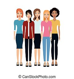 gruppo donne, icona