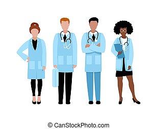 gruppo, dottori