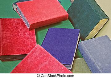 gruppo, libri, vecchio
