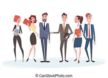 gruppo, persone affari, squadra, accordo, mano, umano, scuotere, uomo affari, risorse