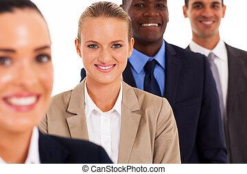 gruppo persone affari, studio, ritratto
