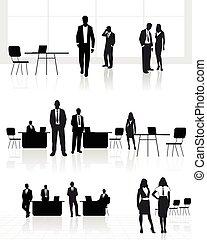 gruppo, persone ufficio