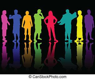 gruppo, persone