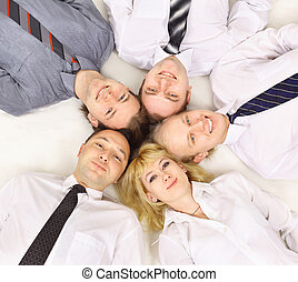gruppo, riunione, affari
