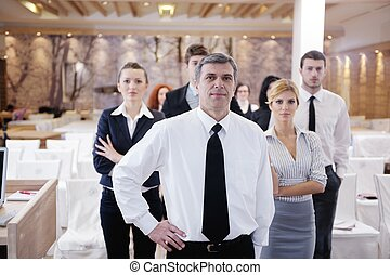 gruppo, seminario affari, persone