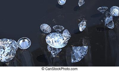 gruppo, sopra, gems:, diamanti, rimbombante, prezioso