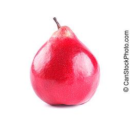 gruszka, czerwony, dojrzały