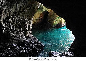 grutas, israel, -, hanikra, rosh