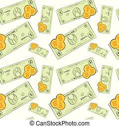 gruvdrift, begrepp, bitcoins, mönster, crypto, seamless, bakgrund, pengar, vit
