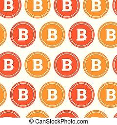 gruvdrift, bitcoins, mönster, crypto, seamless, valuta, bakgrund, undertecknar, vit