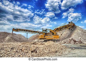 gruvdrift, lera