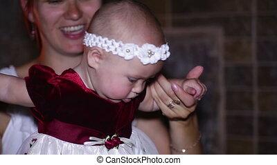 gry, córka, mamusia, jej