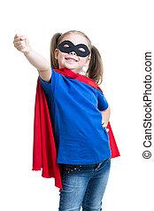 gry, dziewczyna, superhero, dziecko