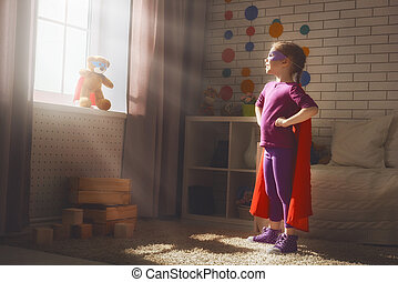 gry, dziewczyna, superhero