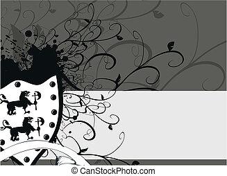 gryphon, jas, heraldisch, armen, 7