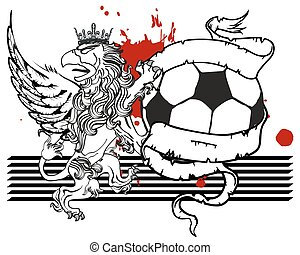 gryphon soccer coat of arms crest5 - gryphon soccer coat of...
