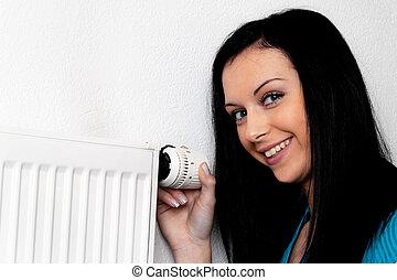 grzałka, kobieta, termostat