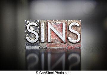 grzeszenie, letterpress