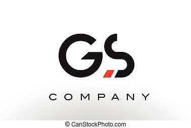 GS Logo.  Letter Design Vector.